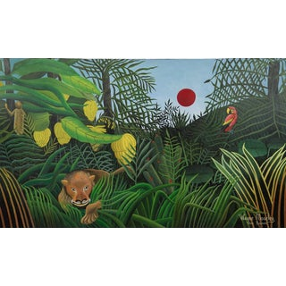"""Wayne Moseley """"In the Jungle"""" Painting"""