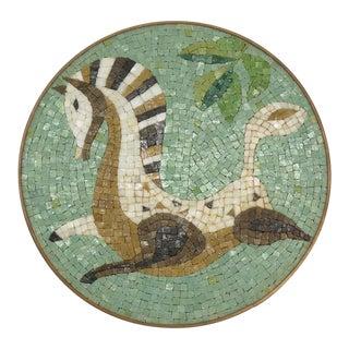 Evelyn Ackerman Era Mosaic Tile, Round Wall Hanging