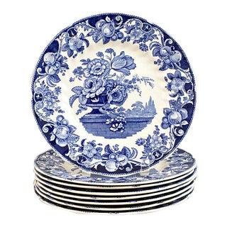 Royal Doulton Dinner Plates Pomeroy Blue - Set of 8
