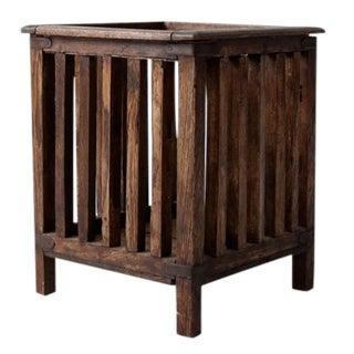Vintage Teak Wood Planter Box