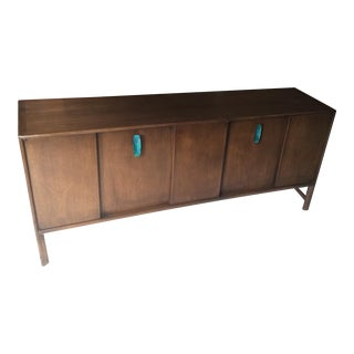 Ray Sabota for John Stuart Curved Credenza With Optional Travertine Stone Top