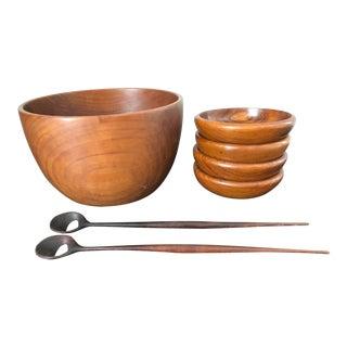Mid-Century Danish Teak Salad Bowl Set - Set of 7