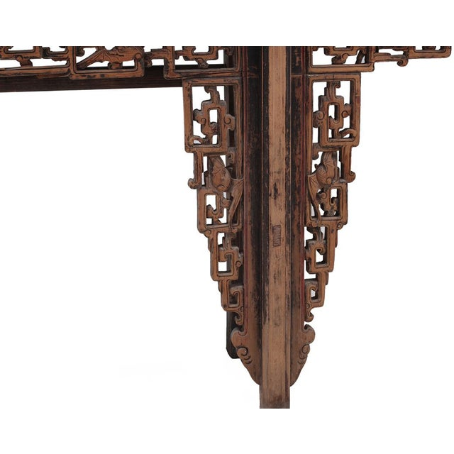 Chinese Rustic Brown Vintage Wood Side Altar Table - Image 3 of 7