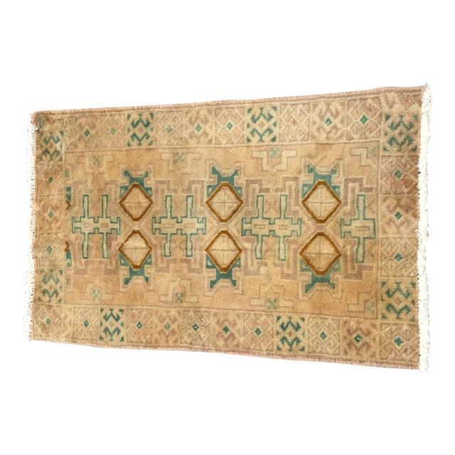 "Turkaman Handmade Persian Rug 1'6"" x 2'8"" - Image 1 of 10"