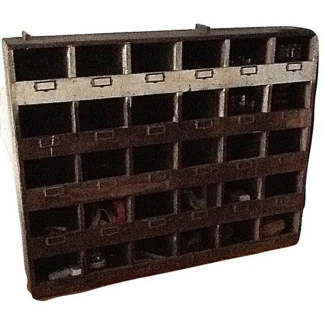 Vintage Industrial Wood Pigeon Hole Storage Shelves - Image 8 of 10