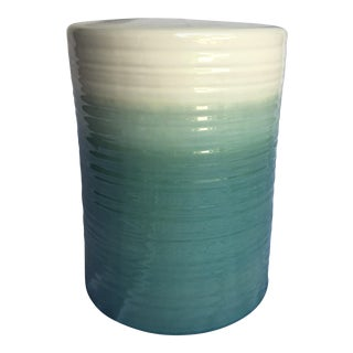 Ombre Sage, Sea Foam & White Waverly Ceramic Garden Stool