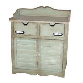 Shabby Chic Desk Top Storage Cabinet