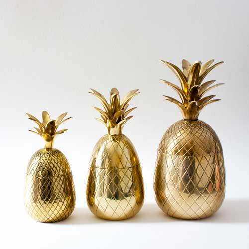 Brass Pineapple Candleholders - Set of 3 - Image 2 of 3