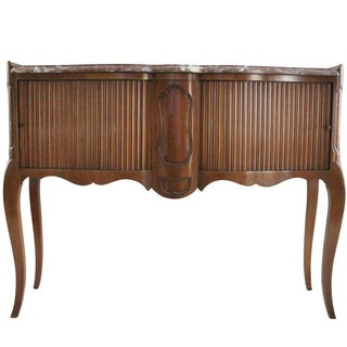 Tambour & Marble Console