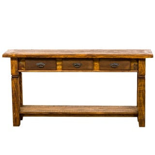 Country Eco-Friendly Reclaimed Solid Wood Console
