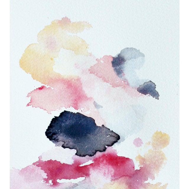 "Ellen Sherman ""Color Study 3"" Watercolor Painting - Image 3 of 4"