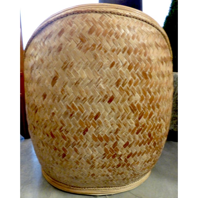 Mid Century Rattan Chairs & Ottoman - A Pair - Image 6 of 8