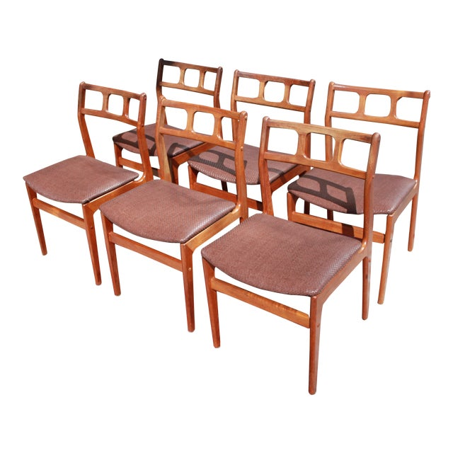 1960s D-Scan Teak Dining Chairs - Image 1 of 9