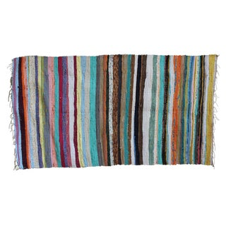 "Recycled Colorful Striped Rug - 3'4"" X 5'"