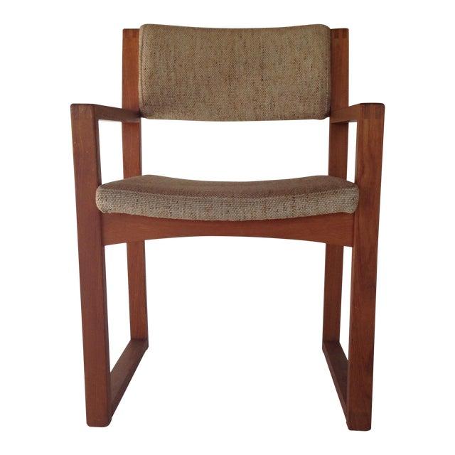 Mid century modern wooden desk chair chairish