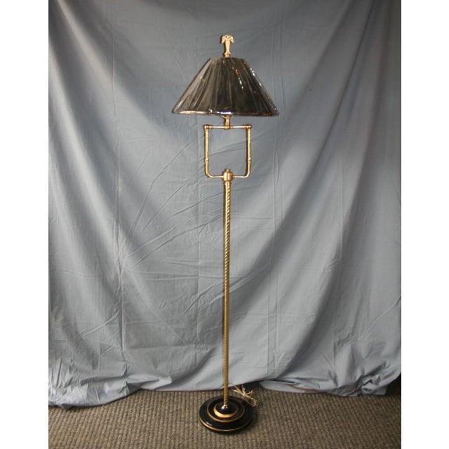 Modern Brass Floor Lamp - Image 9 of 10