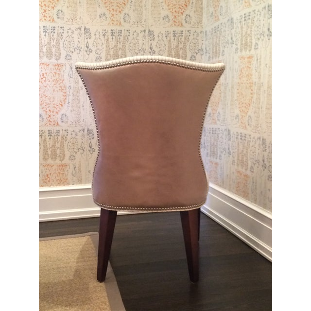 Lee Industries Cream Dining Chairs - Set of 8 - Image 4 of 6