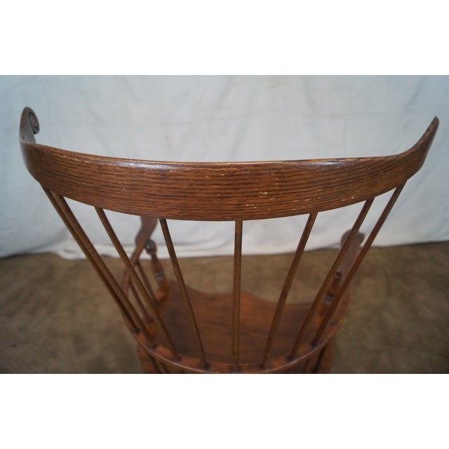Custom Fan Back Windsor Arm Chairs - A Pair - Image 7 of 10