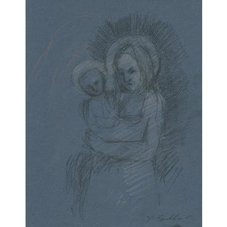 """Caroline & Elliot As Madonna and Child"" Drawing"