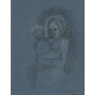 """Caroline & Elliot As Madonna and Child"" Drawing"