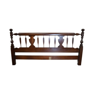 Harden Solid Cherry King Size Cannonball Traditional Headboard