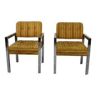 Mid Century Modern chrome and upholstery chairs by Brody