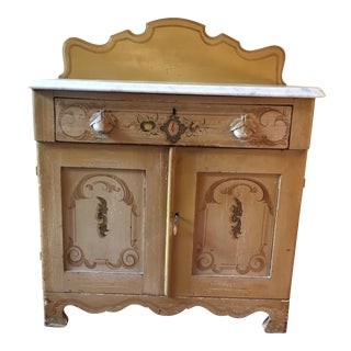 Painted Pine Wash Stand, 1867
