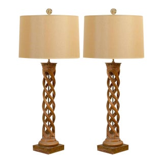 Spectacular Pair of Helix Lamps by Frederick Cooper