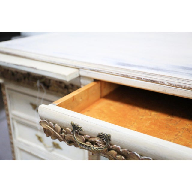 Antique White French Desk - Image 4 of 7