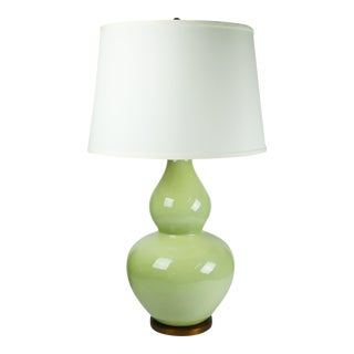 Green Celadon Double Gourd Table Lamp