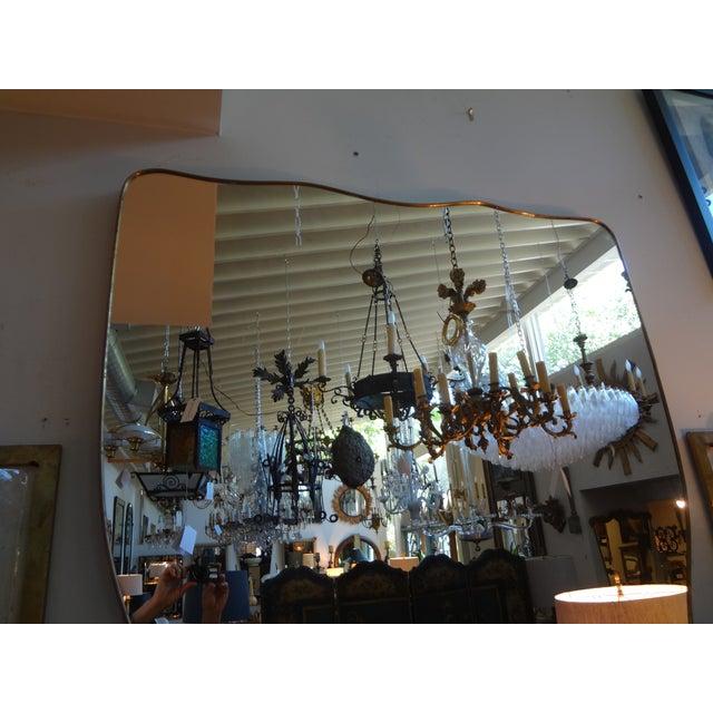 Italian Gio Ponti Inspired Brass Mirror - Image 2 of 7