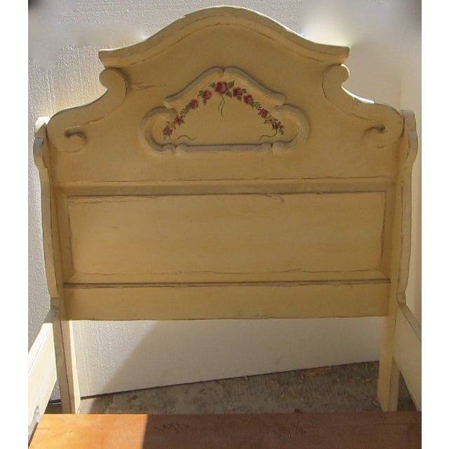 Antique Twin Cream Shabby Chic Wooden Bedframe - Image 5 of 11