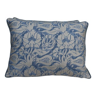 Pair of Melagrana Midnight Blue Fortuny Pillows
