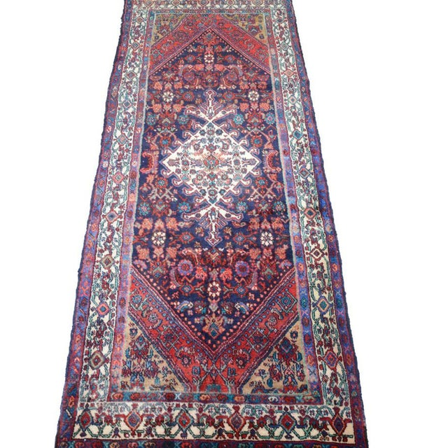 Hand Knotted Persian Mahal Runner - 3′10″ × 10′4″ - Image 2 of 11