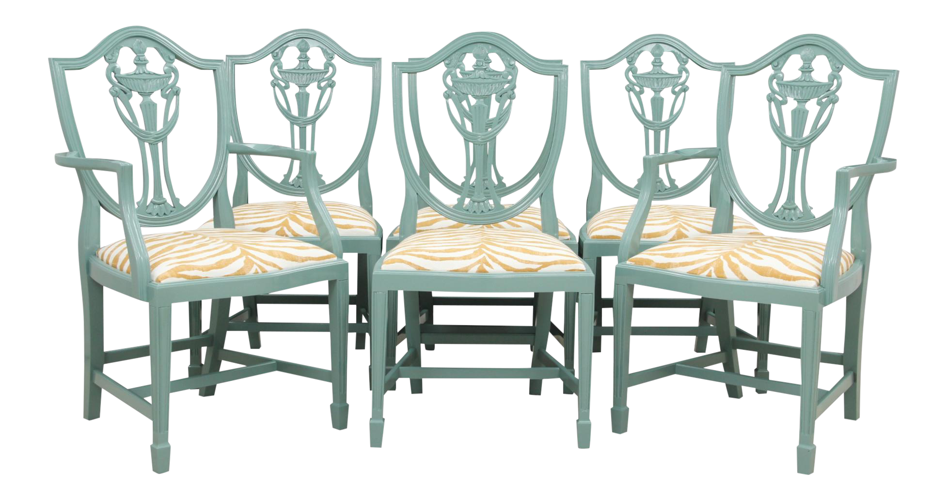 shield back zebra dining chairs set of 6