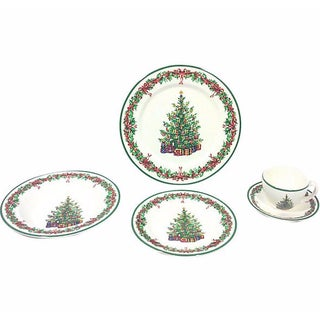 Spode Style Christmas Place Settings - Set of 5