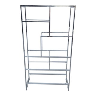 Milo Baughman for DIA Chrome Etagere