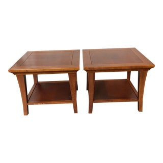 Mission Style Side Tables - A Pair