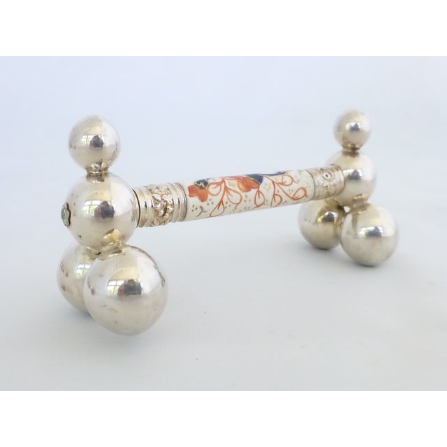 Antique Napkin Ring & Knife Rest Set - Image 8 of 10