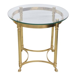 La Barge Brass and Glass End Table, 1970, France