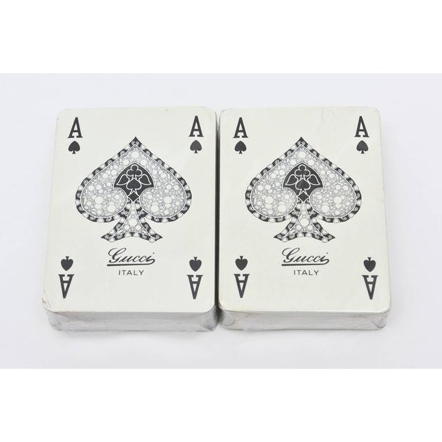 Image of Set of Iconic Vintage Gucci Playing Cards