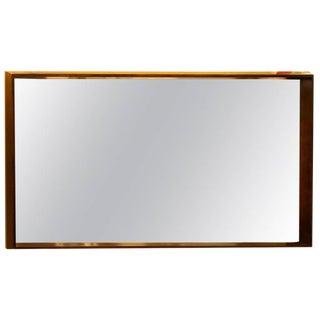 Milo Baughman Mirror in Deep Beveled Frame