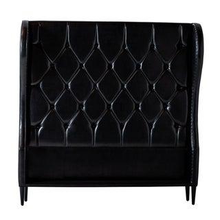 Black Phantom Tuft Welt Contemporary Bed Frame