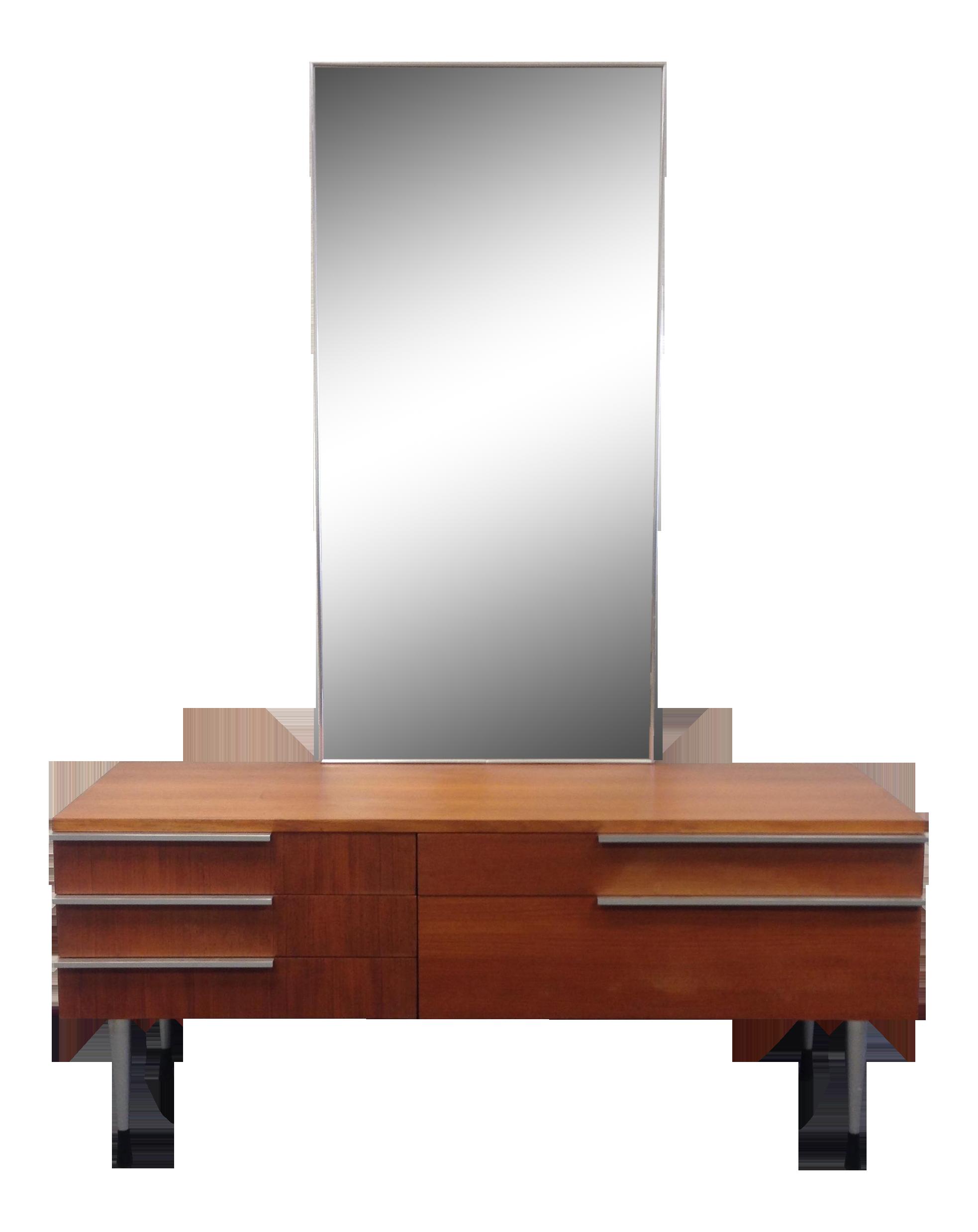 Used Furniture Lawrence Ks Belgian Mid-Century Vanity With Mirror $650 45.5ʺW × 16.5ʺD × 64 ...