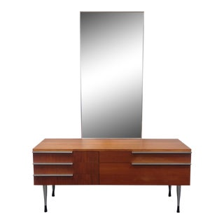 Belgian Mid-Century Vanity With Mirror