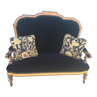 English Biedermeier Silk Mohair Settee