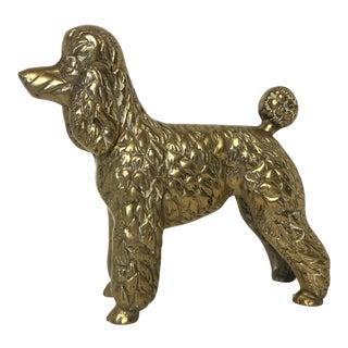 Vintage Brass Poodle
