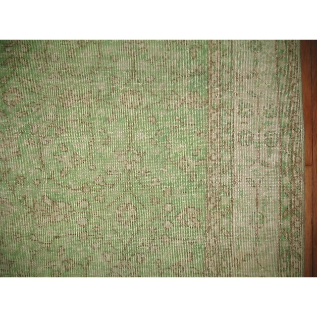Turkish Green Over-Dyed Rug - 7'1'' X 10'5'' - Image 3 of 5