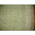 Image of Turkish Green Over-Dyed Rug - 7'1'' X 10'5''