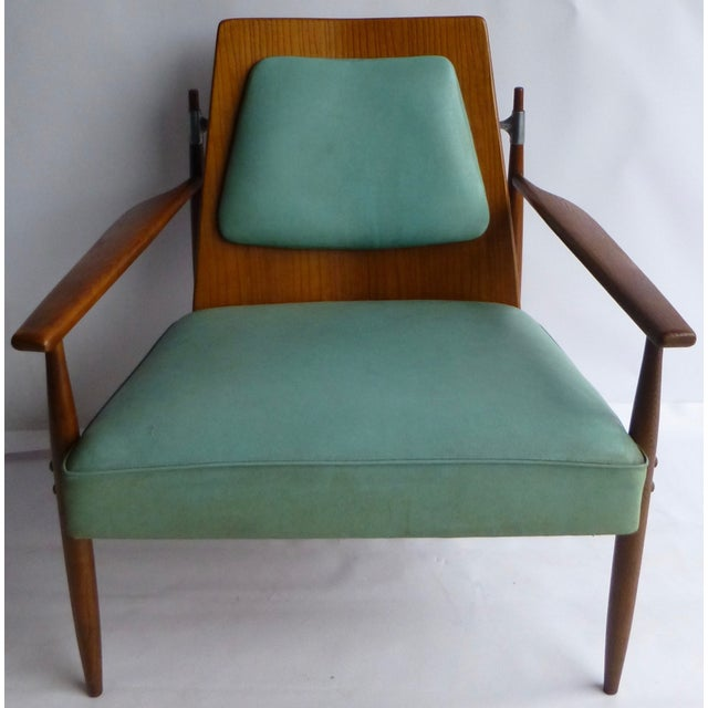 Image of Paul McCobb Vintage 1950s Turquoise Armchair